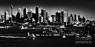 Sydney Harbour Monochrome Poster by Avalon Fine Art Photography