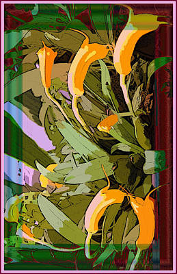 Tangerine Orchids Poster by Mindy Newman