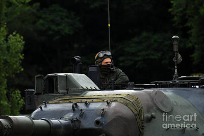 Tank Commander Of A Leopard 1a5 Mbt Poster by Luc De Jaeger