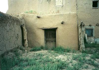 Taos Pueblo Door New Mexico Poster by Elizabeth Sullivan