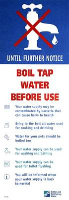 Tap Water Warning Sign Poster by Victor De Schwanberg