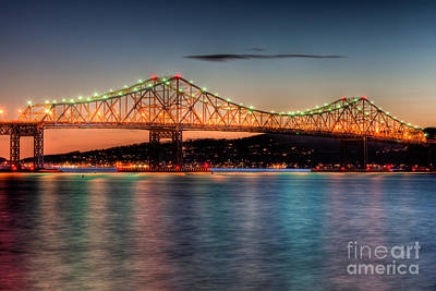 Tappan Zee Bridge Twilight I Poster by Clarence Holmes