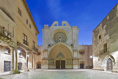 Tarragona Cathedral Founded In The 12th Poster by Rob Tilley