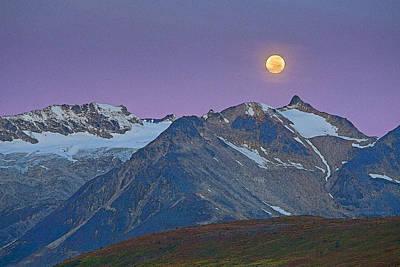 Tatshenshini Moonset- Abstract Poster by Tim Grams