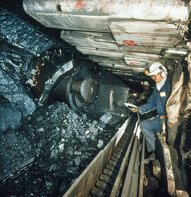Technician Measures Noise Levels In A Coal Mine Poster by Crown Copyrighthealth & Safety Laboratory
