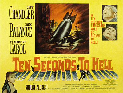 Ten Seconds To Hell, Jeff Chandler Poster by Everett
