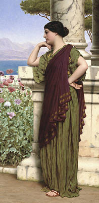 Tender Thoughts Poster by John William Godward
