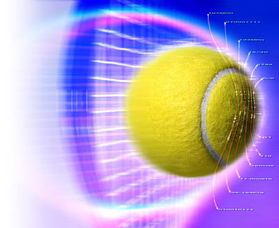 Tennis Ball Poster by Coneyl Jay