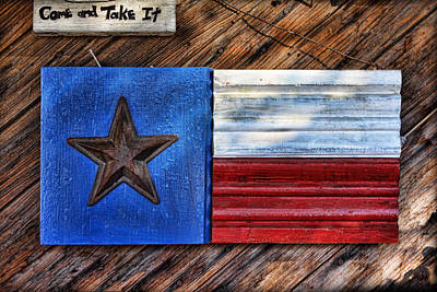Texas Wood Plaques Poster by Linda Phelps