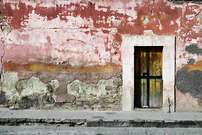 Textured Wall In Mexico Poster by Carol Leigh