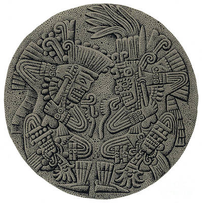 Tezcatlipoca And Huitzilopochtli Poster by Photo Researchers