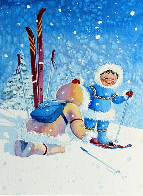The Aerial Skier - 5 Poster by Hanne Lore Koehler