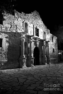 The Alamo At Night Poster by Jim Chamberlain