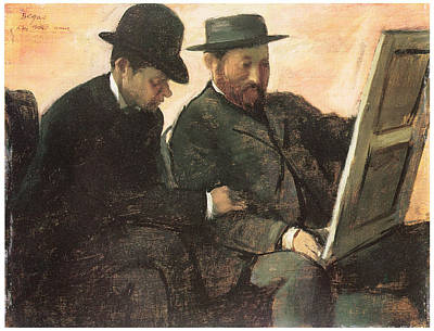 The Amateurs  Poster by Edgar Degas