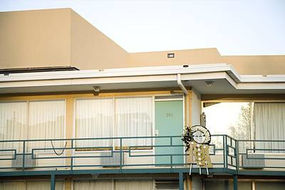The Balcony Of The Lorraine Motel Where Poster by Everett