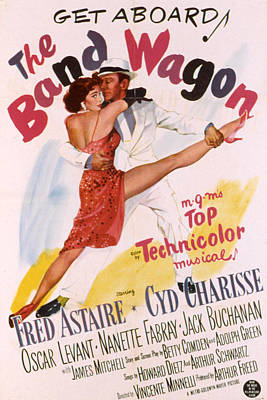 The Band Wagon, Cyd Charisse, Fred Poster by Everett