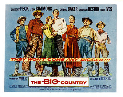 The Big Country, Charles Bickford Poster by Everett