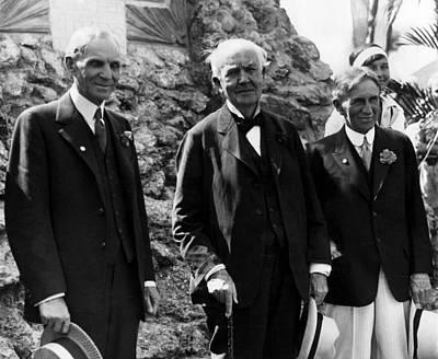 The Big Three Henry Ford,thomas Edison Poster by Everett