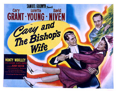 The Bishops Wife Cary Grant, Loretta Poster by Everett