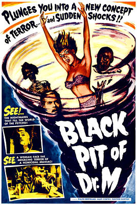 The Black Pit Of Dr. M, Aka Misterios Poster by Everett