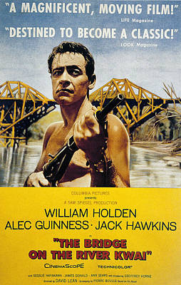 The Bridge On The River Kwai, William Poster by Everett