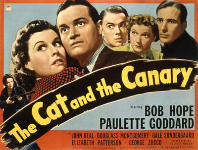 The Cat And The Canary, Gale Poster by Everett