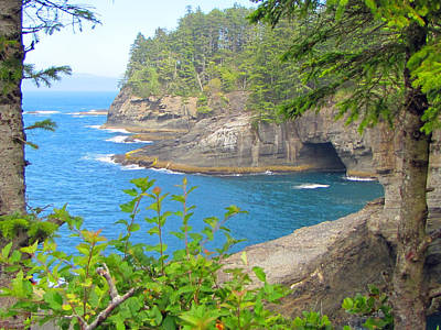 The Caves Of Cape Flattery  Poster by Tikvah's Hope