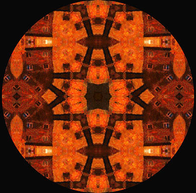The Color Orange Mandala Abstract Poster by Georgiana Romanovna