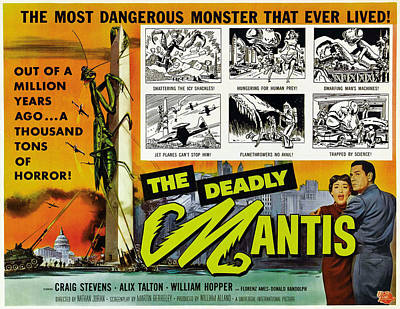 The Deadly Mantis, Bottom Right Poster by Everett