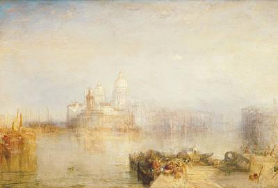 The Dogana And Santa Maria Della Salute Venice Poster by Joseph Mallord William Turner