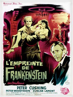 The Evil Of Frankenstein Aka Lempreinte Poster by Everett