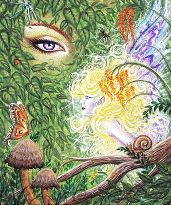 The Faerie World Poster by Leon Atkinson