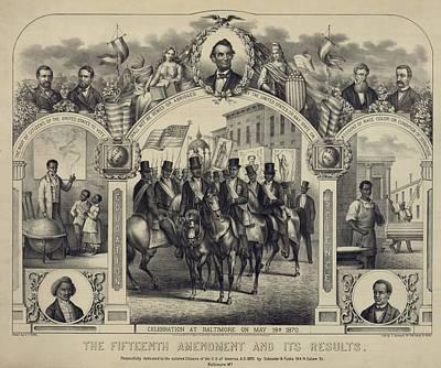 The Fifteenth Amendment Banning Voting Poster by Everett