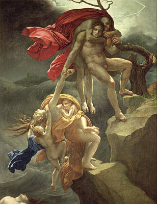 The Flood Poster by Anne Louis Girodet de Roucy-Trioson