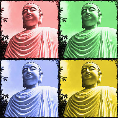 The Four Buddhas Poster by Skip Nall