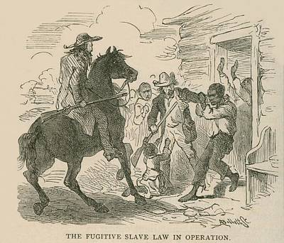 The Fugitive Slave Law In Operation Poster by Everett