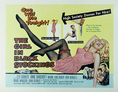 The Girl In Black Stockings, Mamie Van Poster by Everett