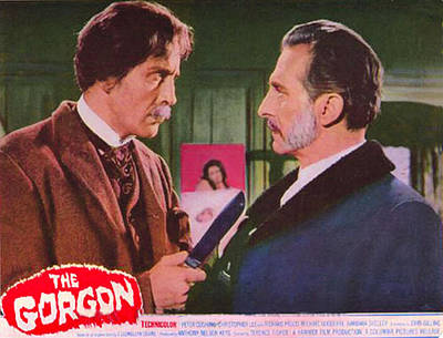 The Gorgon, From Left Christopher Lee Poster by Everett
