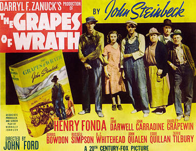 The Grapes Of Wrath, John Carradine Poster by Everett