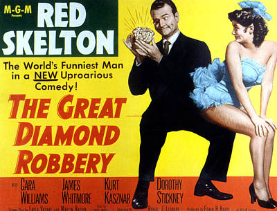 The Great Diamond Robbery, Red Skelton Poster by Everett