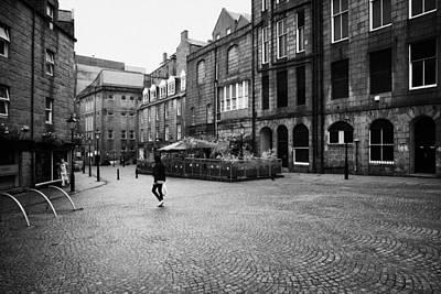 The Green Aberdeen Old Town City Centre Scotland Uk Poster by Joe Fox