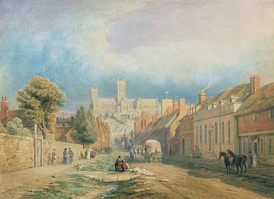 The High Street Lincoln  Poster by Thomas Kearnan