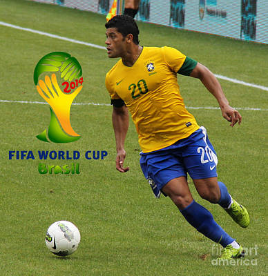 The Hulk Kicking Fifa 2014 Poster by Lee Dos Santos