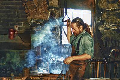 The Iron Man- Blacksmith Poster by Joann Vitali