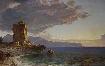 The Isle Of Capri Poster by Jasper Francis Cropsey