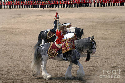 The Kettledrums Of Household Cavalry Poster by Andrew Chittock