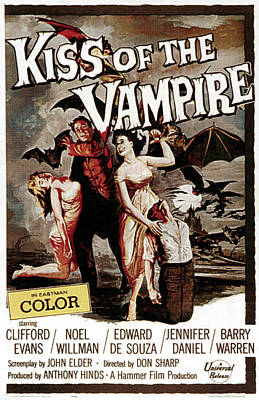 The Kiss Of The Vampire, 1963 Poster by Everett
