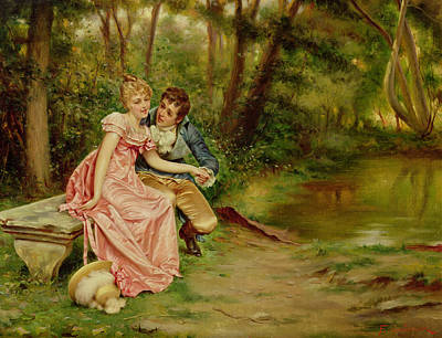 The Lovers Poster by Joseph Frederick Charles Soulacroix