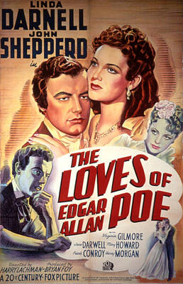 The Loves Of Edgar Allen Poe, Shepperd Poster by Everett