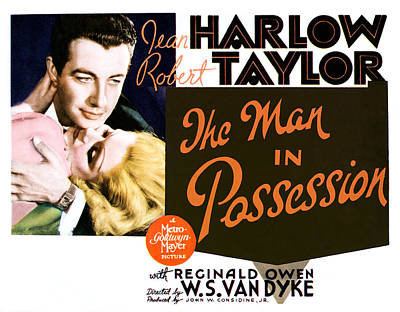 The Man In Possession, Jean Harlow Poster by Everett